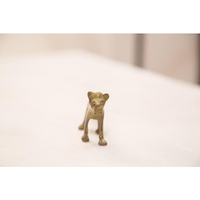Vintage Bronze Lioness Figurine / Ashanti Gold Weight For Sale - Image 5 of 5