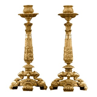 Early 19th-Century English Ormolu Candlesticks