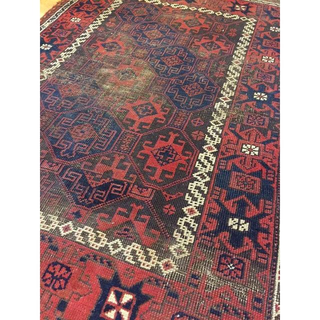 "Vintage Tribal Persian Rug - 3' x 5'10"" - Image 6 of 7"
