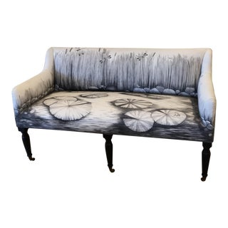 Hand Painted Settee For Sale