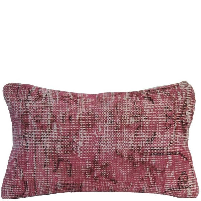 Pink Handmade Overdyed Rug Pillow Cover - Pair - Image 1 of 4
