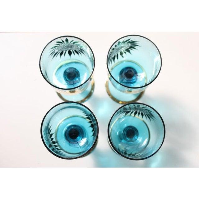 Vintage Sunflower Glasses - Set of 4 - Image 8 of 8