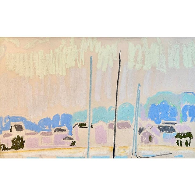 1960s Post-Impressionist Harbor at Sunset For Sale - Image 5 of 8