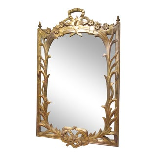 Antique Gilt Carved Wood Organic Style Mirror For Sale