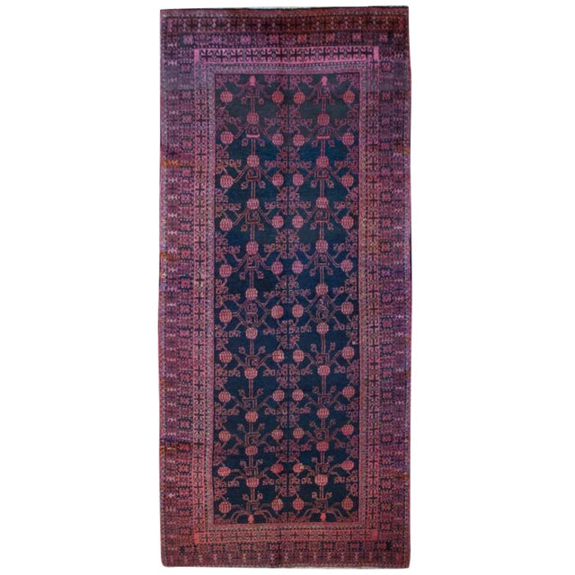 """Early 20th Century Khotan Rug - 4'3"""" x 9'4"""" For Sale"""