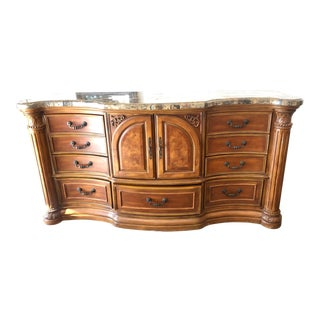 Traditional Aico Amini Dresser With Stone Top For Sale