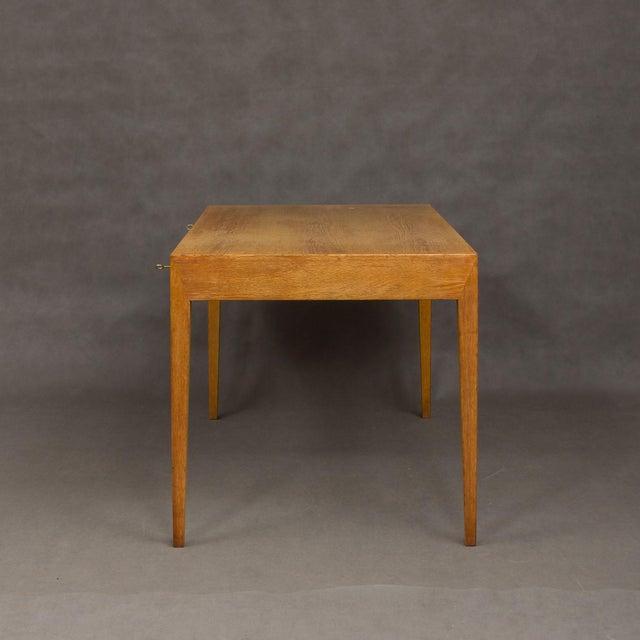 Danish Modern Mid-Century Modern Severin Hansen Oak Writing Desk For Sale - Image 3 of 12