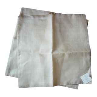 Banana Republic Organic Modern Woven Euro Sham Pillow Covers - a Pair For Sale
