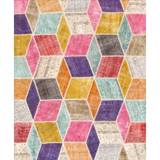 Hand-Knotted Patchwork Rug - 8′1″ × 9′10″ For Sale