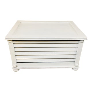 Bombay White Wooden Storage Chest