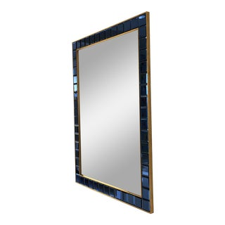 Scalamandre Blue Mirrored Tile Mirror