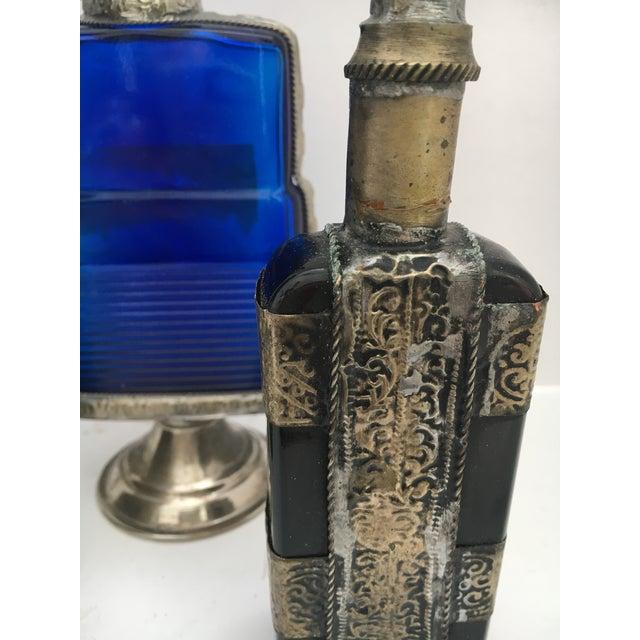 Vintage Moorish Islamic Style Decorative Bottles - Set of 3 For Sale - Image 4 of 8