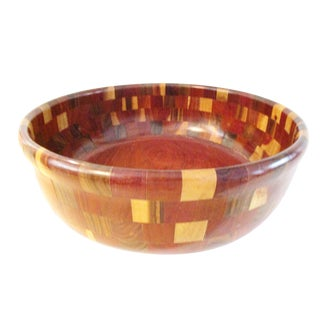 Large African Wood Centerpiece Bowl