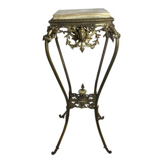 Victorian Gilded Bronze and Onyx Pedestal For Sale