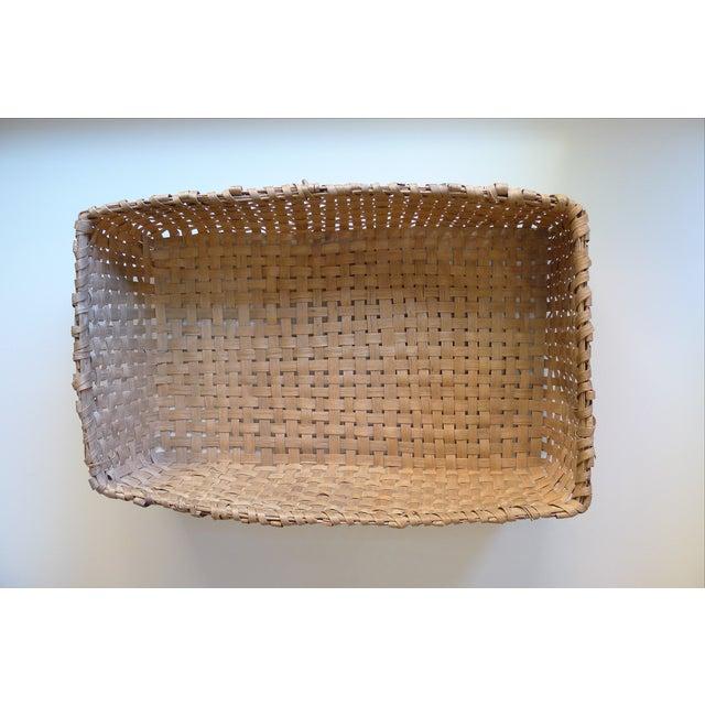 Rustic Antique Primitive Gathering Basket For Sale - Image 3 of 5