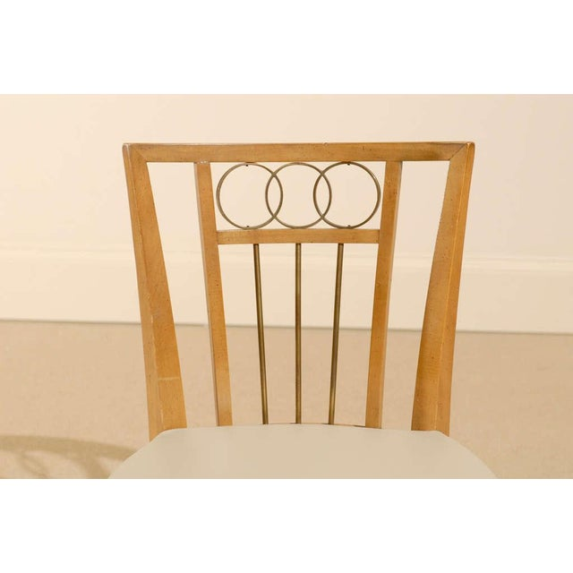 Mid-Century Modern Set of Four (4) Chairs in the Style of Michael Taylor For Sale - Image 3 of 11