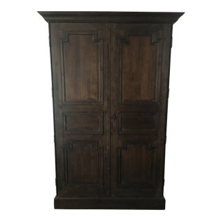 Rustic Restoration Hardware Montpellier Armoire For Sale