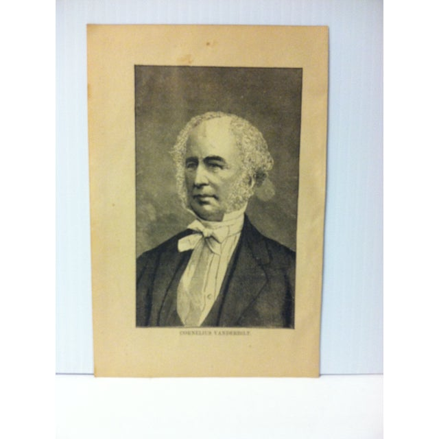 """This is an Antique Print on Paper that presents a Successful Self-Made Man and is titled """"Cornelius Vanderbilt"""". The Print..."""