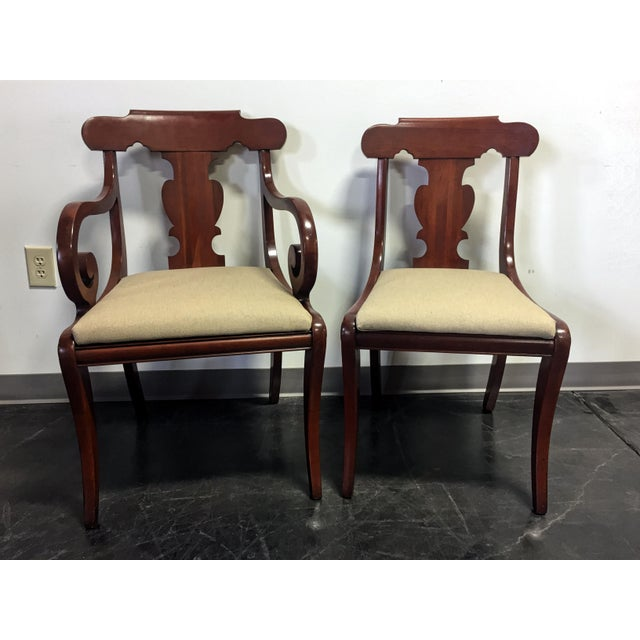 Vintage Willett Solid Cherry Empire Style Dining Chairs - Set of 6 For Sale - Image 4 of 11