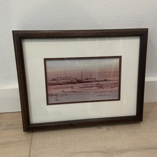 Mid 20th Century Abstract Watercolor Painting, Framed For Sale - Image 10 of 10