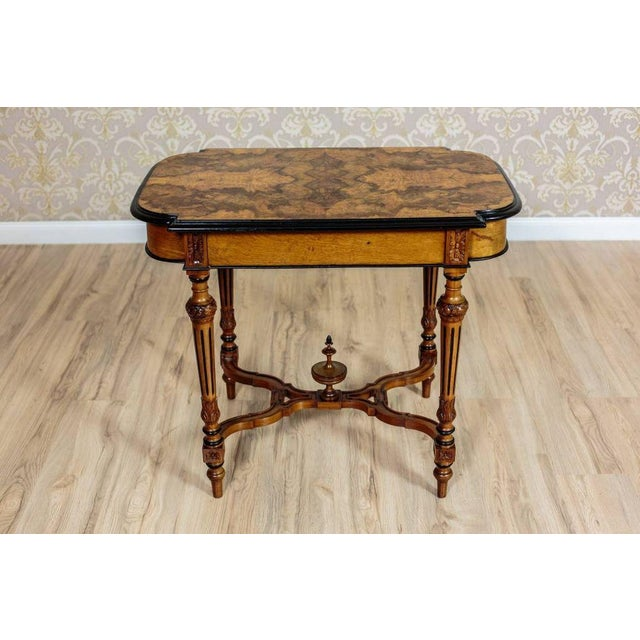 19th Century Eclectic Walnut Small Table For Sale - Image 4 of 11