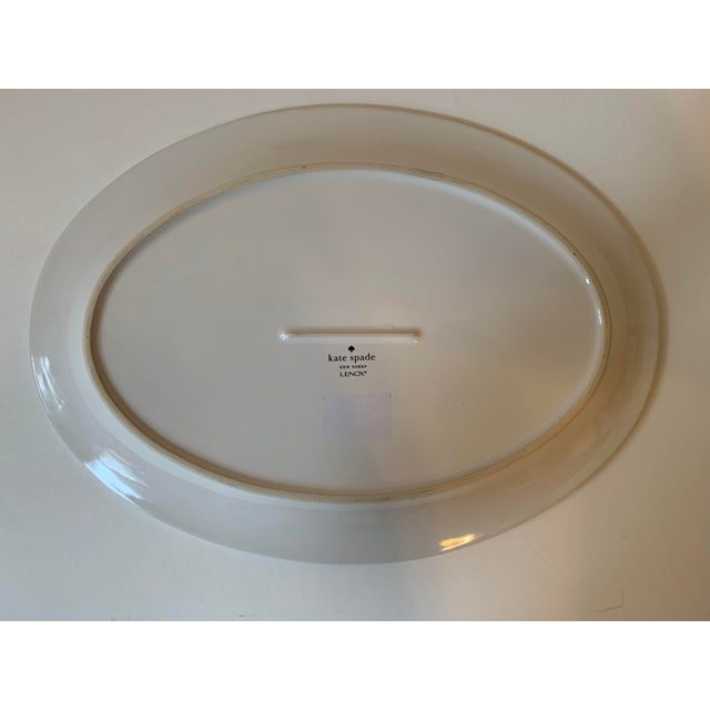 Kate Spade Lenox Rutherford Green Serving Platter For Sale In New York - Image 6 of 7