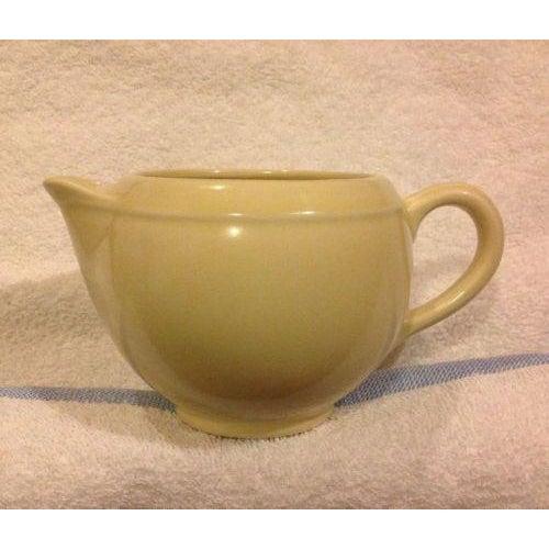 Ceramic Vernon Kilns Mid Century Yellow Creamer For Sale - Image 7 of 7