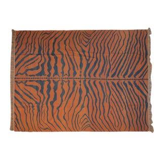 """Vintage Indian Tiger Kilim Design Carpet - 9'1"""" X 12'1"""" For Sale"""