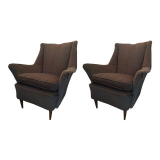 Vintage Armchairs in Gio Ponti Style - A Pair For Sale