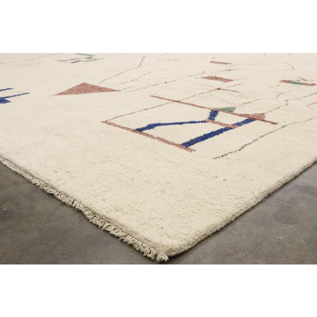 Contemporary Moroccan Rug After Harry Bertoia - 12′ × 15′8″ For Sale In Dallas - Image 6 of 10