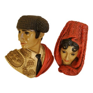 El Matador & La Senorit Busts - a Pair For Sale