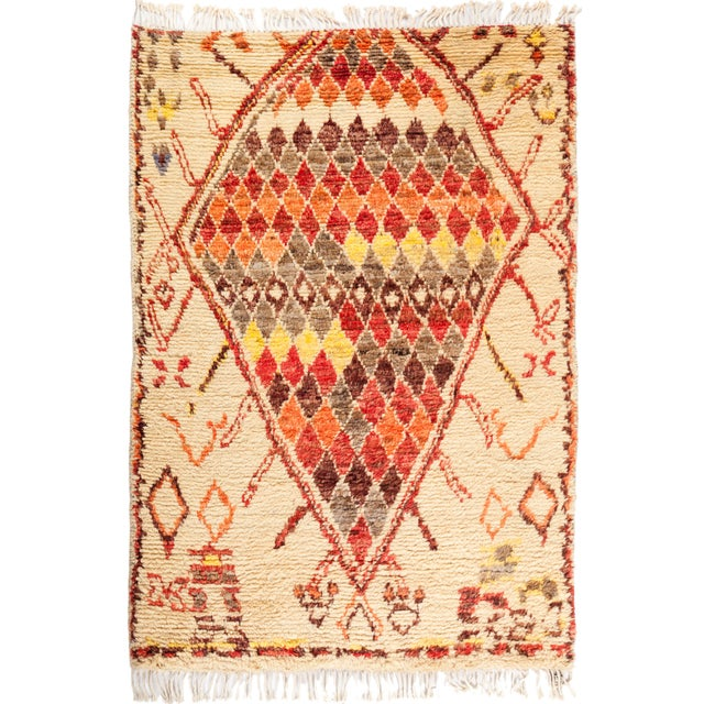 "Tullu Hand Knotted Area Rug - 4' 3"" x 6' 0"" - Image 4 of 4"
