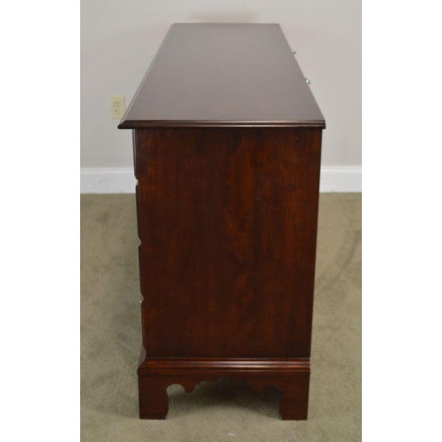 Wood Statton Solid Cherry Long Dresser With Mirror For Sale - Image 7 of 13