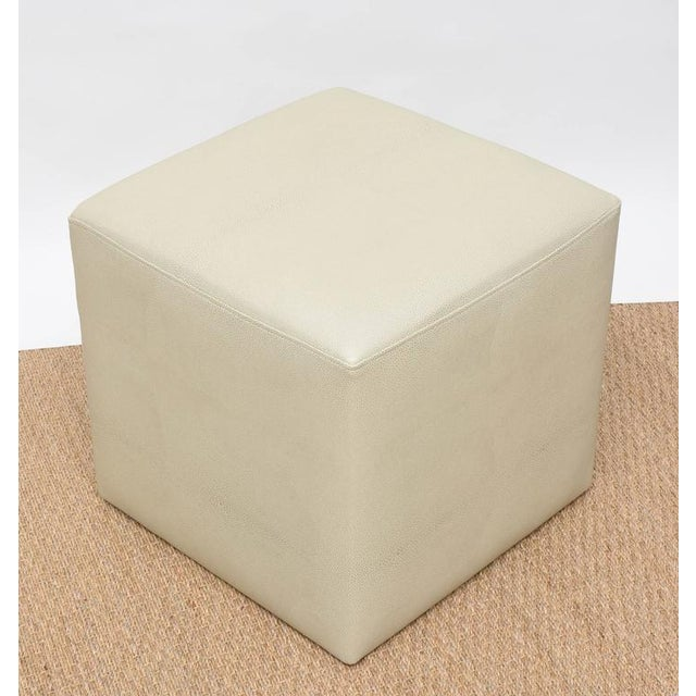 Ottomans in Faux Shagreen - Pair For Sale - Image 4 of 8