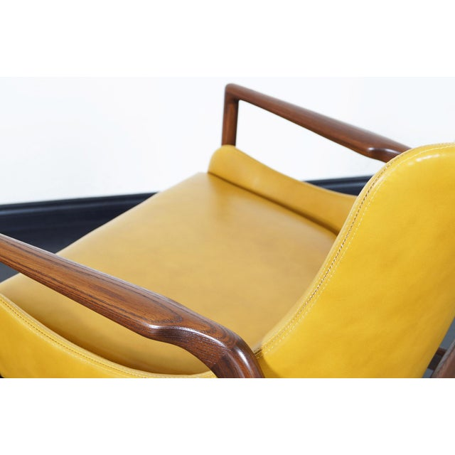 Danish Modern Leather Lounge Chairs by Ib Kofod Larsen For Sale - Image 12 of 13