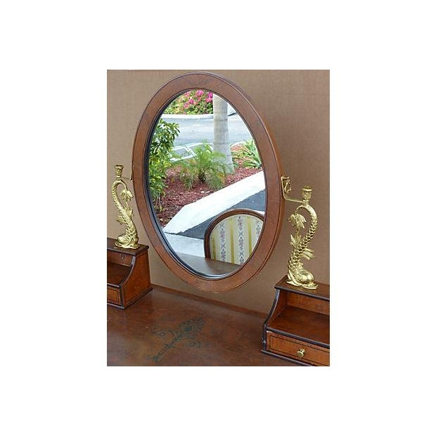 Empire Style Vanity Desk with Mirror & Chair - Image 8 of 11