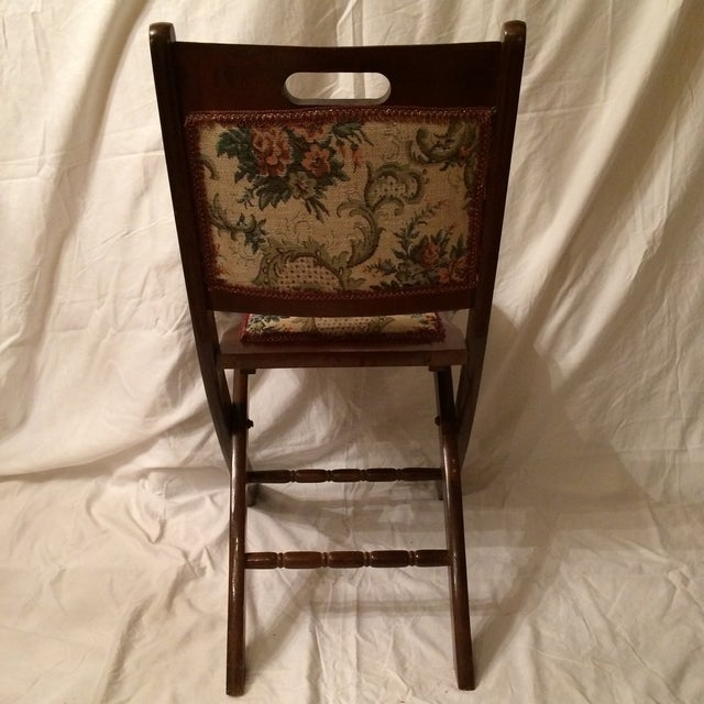 Vintage Victorian Style Campaign Parlor Chairs - Set of 4 - Image 5 of 11