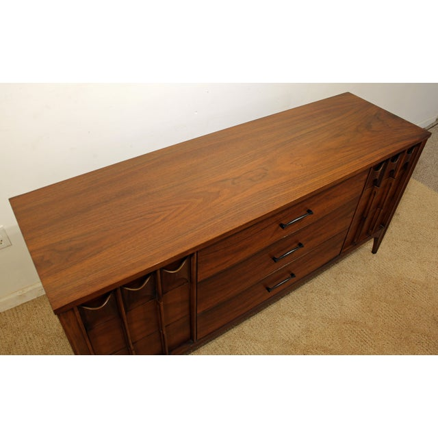 Mid 20th Century Kent Coffey Perspecta Walnut/Rosewood Credenza For Sale - Image 5 of 12