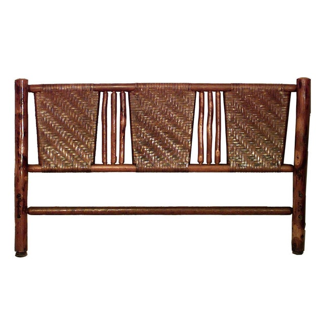 Primitive 20th Century American Old Hickory Full Size Woven Bed For Sale - Image 3 of 3