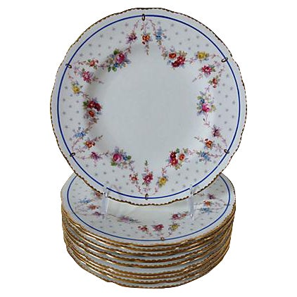 Royal Crown Derby Luncheon Plates - Set of 10 - Image 1 of 3