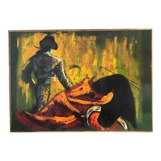 Large Mid Century Painting - Matador