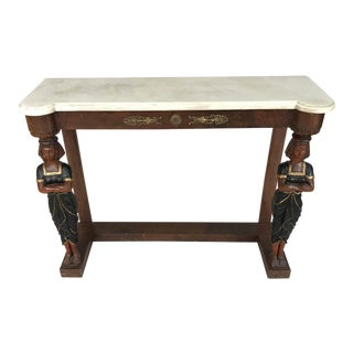 1880s Regency Greek Revival Console Table