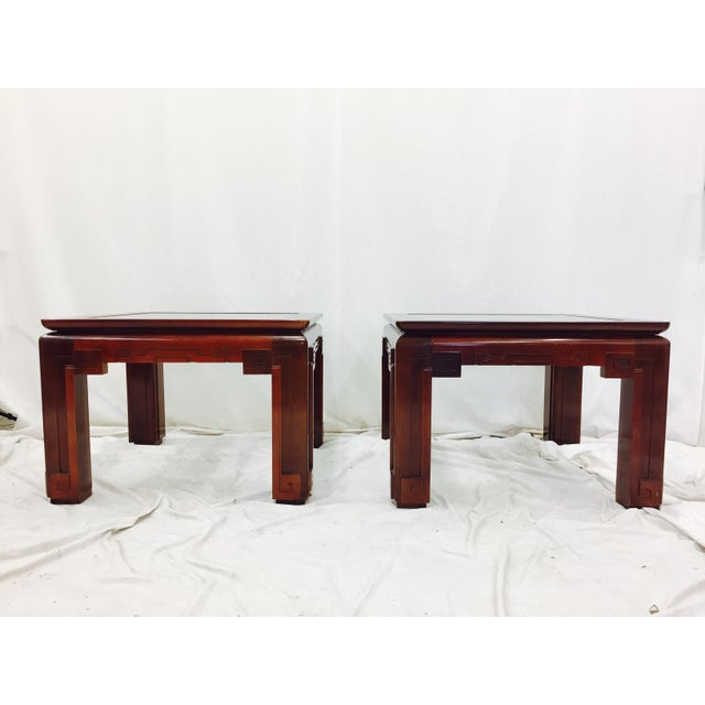 Vintage Asian Ming Style Side Tables - A Pair For Sale - Image 4 of 10