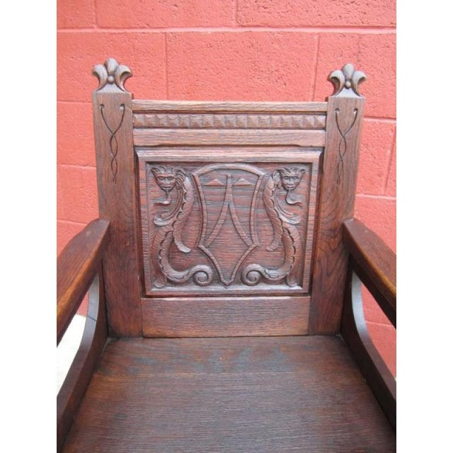 French Antique Gothic Chairs - A Pair - Image 2 of 9 - French Antique Gothic Chairs - A Pair Chairish
