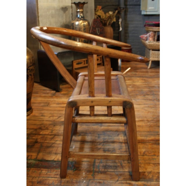 Country Style Curved Bowback Elm Armchair For Sale - Image 5 of 5