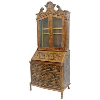 Late 18th Century English George III Mahogany Bureau Bookcase 'Secretaire' For Sale