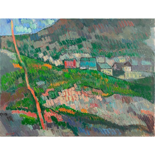 Johannes Carstensen Landscape With Village For Sale