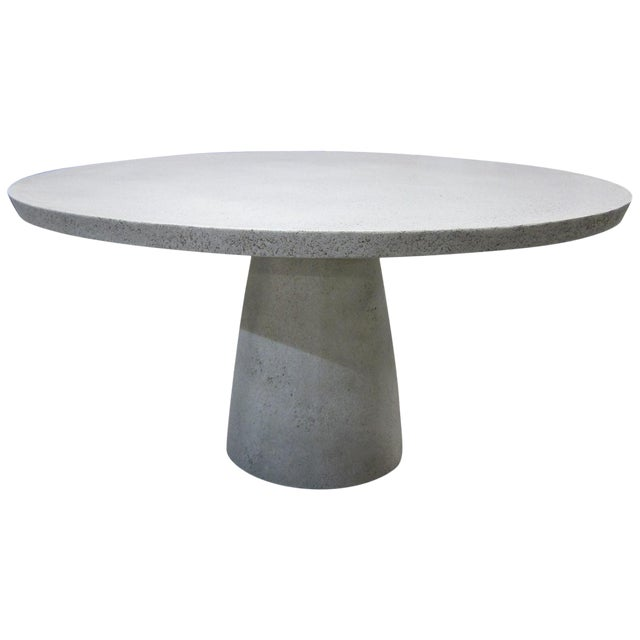 Cast Resin 'Hive' Dining Table, Custom White Stone Finish by Zachary A. Design For Sale