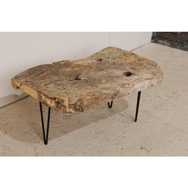 Rustic Custom-Made Coffee Table of Old Natural Coffee Table For Sale In Atlanta - Image 6 of 8