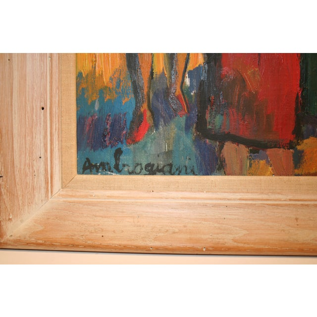 French Expressionist Oil by Pierre Ambrogiani - Image 3 of 7